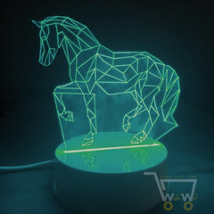 LED Horse Table LAMP- 7 COLORS CHANGEABLE - WikiWii