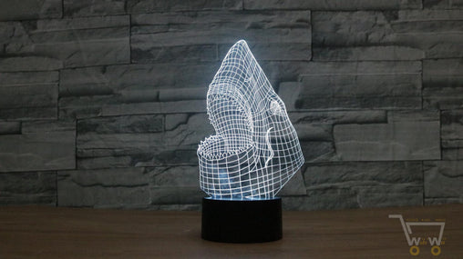 LED lamp Shark table lamp- 7 Colors changable - WikiWii