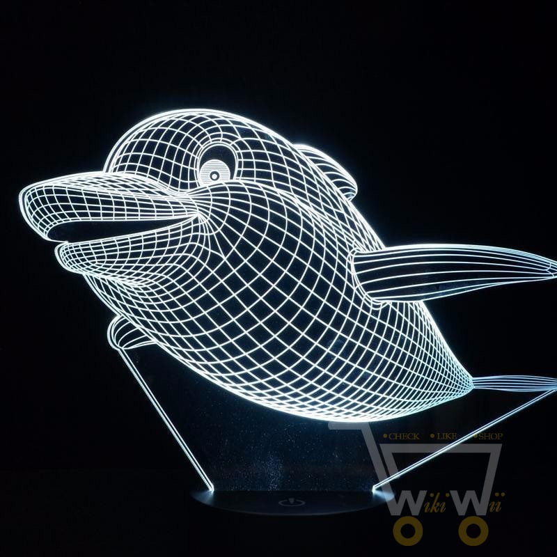 ... LED Lovely Dolphin LAMP  7 COLORS CHANGEABLE   WikiWii ...