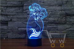 LED Mermaid LAMP- 7 COLORS CHANGEABLE - WikiWii