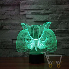 LED OWL LAMP- 7 COLORS CHANGEABLE - WikiWii