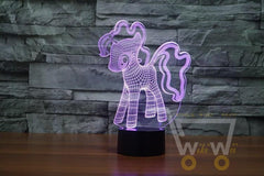 LED Pony LAMP- 7 COLORS CHANGEABLE - WikiWii
