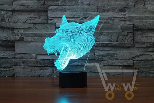 LED Wolf Head LAMP- 7 COLORS CHANGEABLE - WikiWii