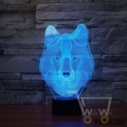 LED Wolf LAMP- 7 COLORS CHANGEABLE - WikiWii