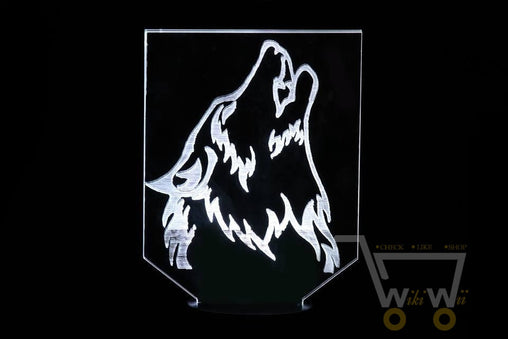 LED Wolf Night Lamp - 7 color changing - WikiWii
