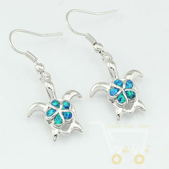 Lovely Blue Turtle Earrings - WikiWii