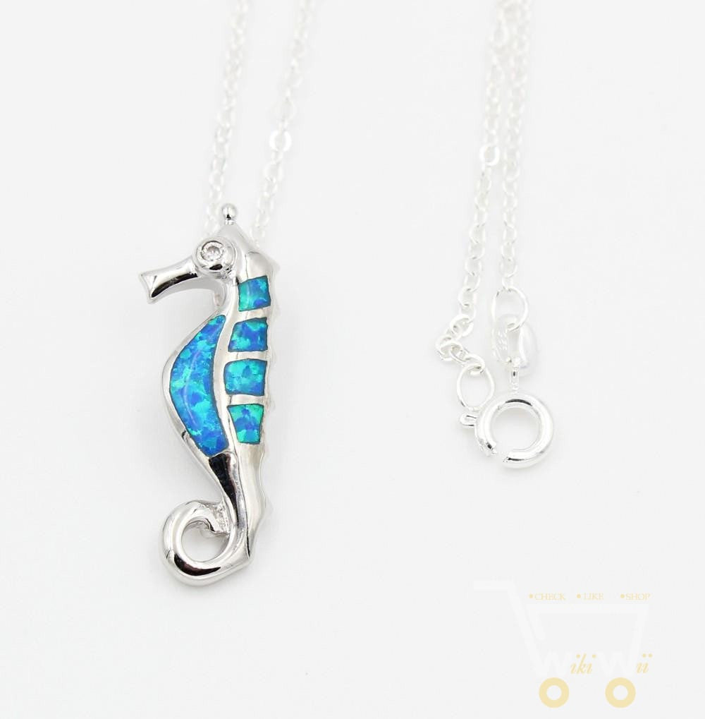 Lovely  Sea Horse Necklace - WikiWii
