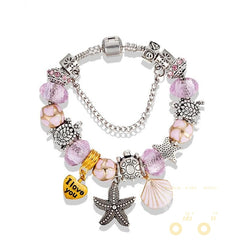Lovely Sea Turtles/Star fish Charm Bracelet - WikiWii