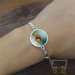 Marine Life Sea Turtle Glass Bracelet - WikiWii