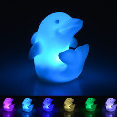Multi Color Dolphin LED Lamp Light- 7 colors changeable - WikiWii