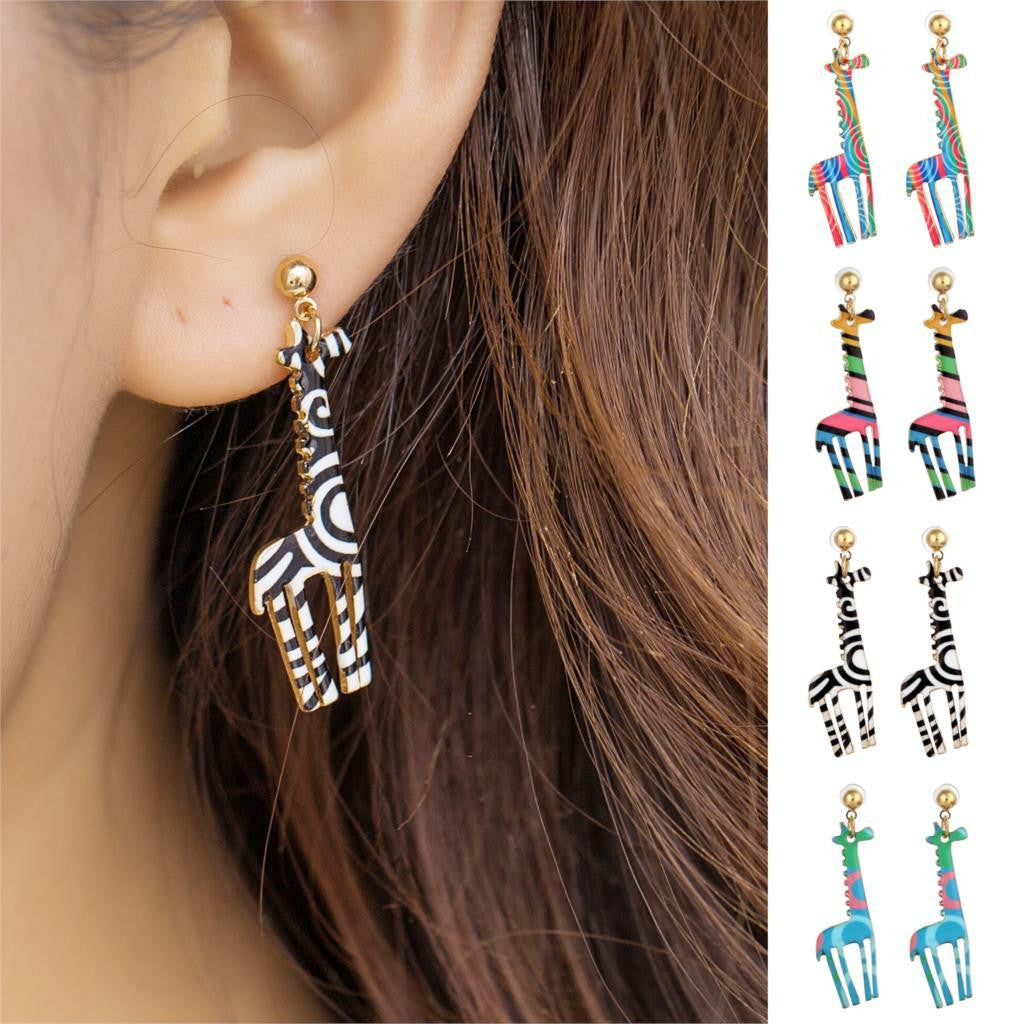 New Fashion Jewelry Gold Plated with Giraffe Shaped  Earrings - WikiWii