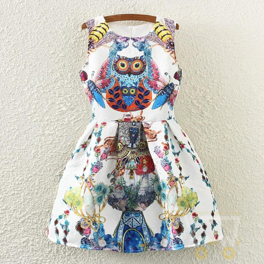 Owl and butterfly party dresses - WikiWii