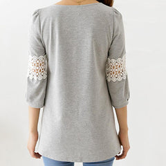 Owl Blouse Three Quarter Sleeve - WikiWii
