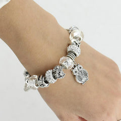 Owl Silver Bracelets Different Color - WikiWii
