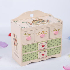 Owl Wood Jewelry Box 16.5*8*17 CM - WikiWii