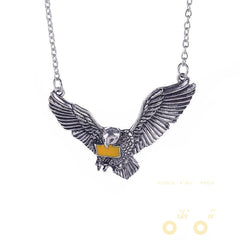 Antique Slver Owl Necklace - WikiWii
