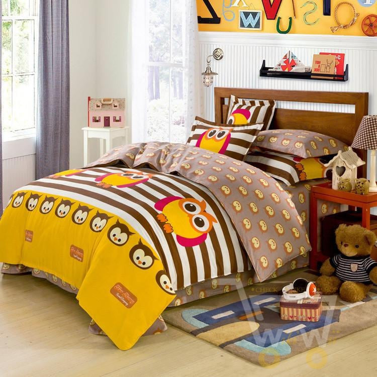 duvet in set item twin animal youjie aliexpress garden owl style home com brief cover from bedding bed sets cotton on queen