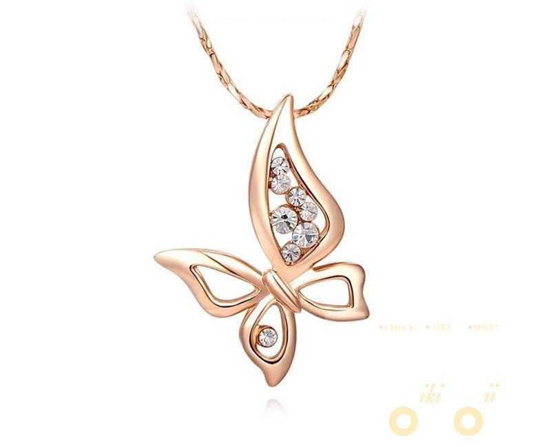 Rose Gold Plated Chain Butterfly - WikiWii