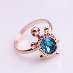 Rose Gold Plated Ring turtle shape - WikiWii