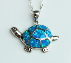 Sea Turtle Blue  Pendant - WikiWii