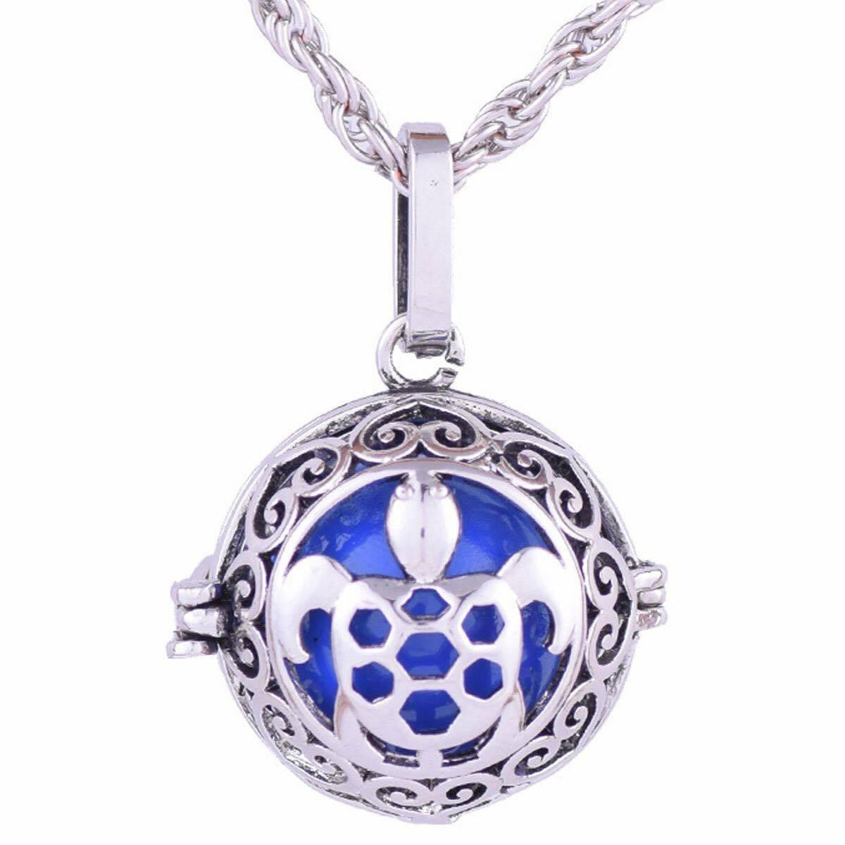 Sea turtle Cage Ball Necklace ( Essential Oil Diffuser Necklace ) - WikiWii