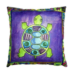 Sea turtle Cotton Linen Pillow Cover - WikiWii