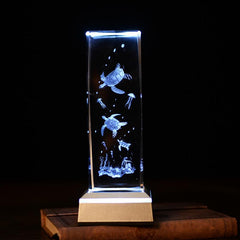 Sea Turtle Crystal Laser Carving - WikiWii