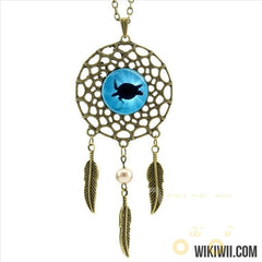 Sea Turtle Necklace In A Dream Catcher Style - WikiWii