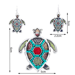 Sea turtle Necklace Set - WikiWii