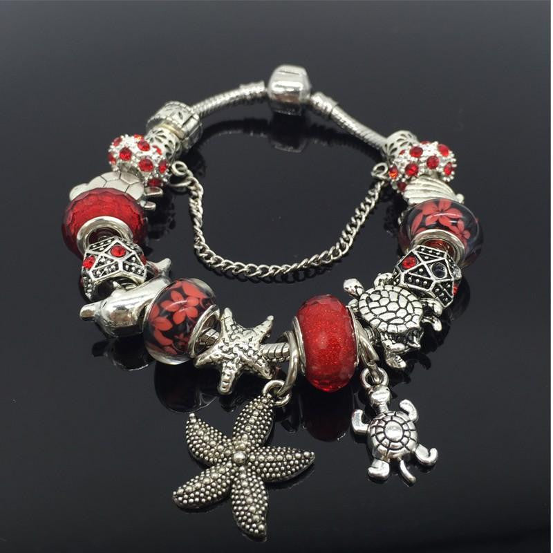 Sea Turtle Shell Starfish Dolphin Bracelet - WikiWii