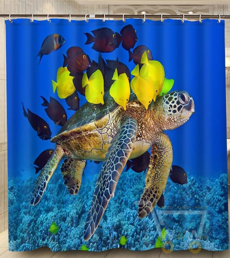 Sea Turtle Shower Curtain   WikiWii ...