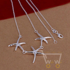 925 sterling silver starfish necklace - WikiWii