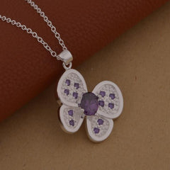 Shiny Crystal Butterfly Necklace - WikiWii