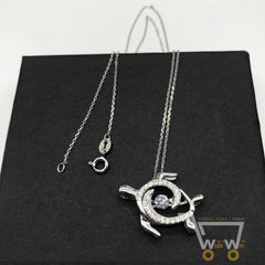 925 Sterling Silver Sea Turtle Necklace - WikiWii