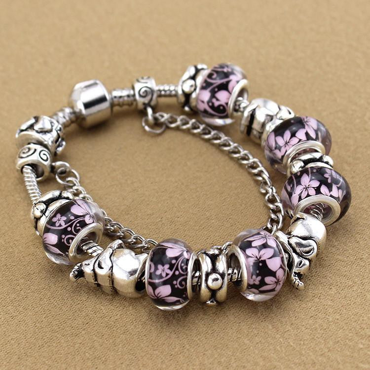 pin sterling birthstones with elephant swarovski bracelet personalized silver