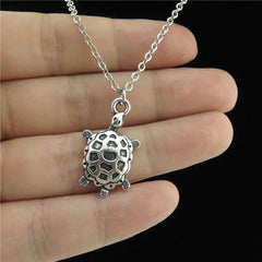 Silver Alloy Sea Turtle Necklace 18