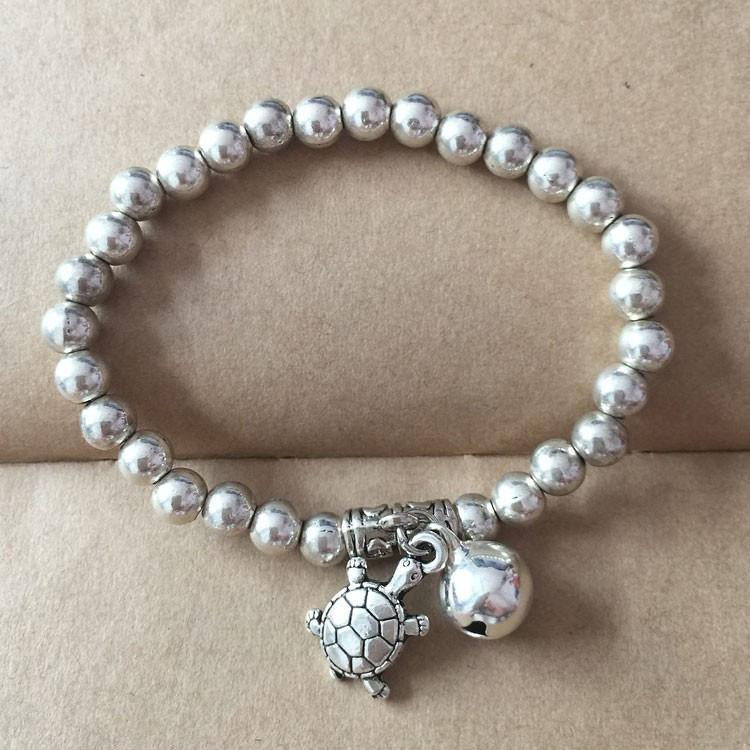 Silver Plated Beads Turtle Bracelet - WikiWii