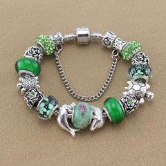 Silver Plated Bracelet  Dolphin / Sea turtle - WikiWii