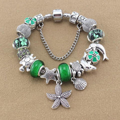 Silver Plated Bracelet Starfish / Dolphin / Sea turtle - WikiWii