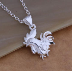 Silver Plated Chicken Necklace - WikiWii