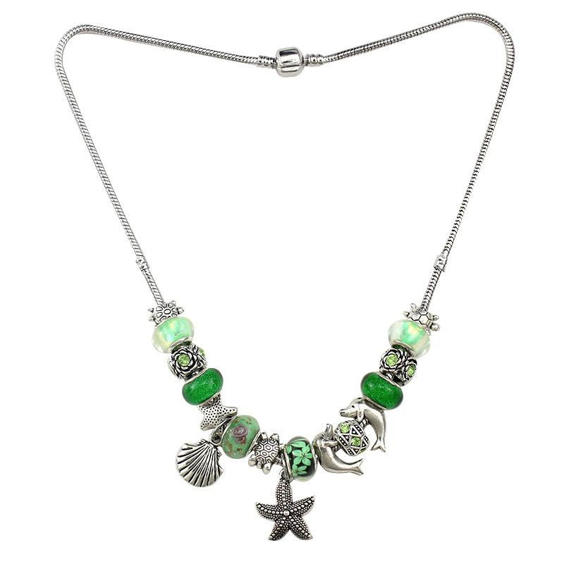 Silver Plated Necklace Starfish / Dolphin / Sea turtle - WikiWii