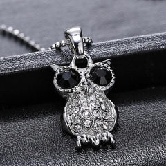 Silver Plated Owl Long Chain Necklaces - WikiWii