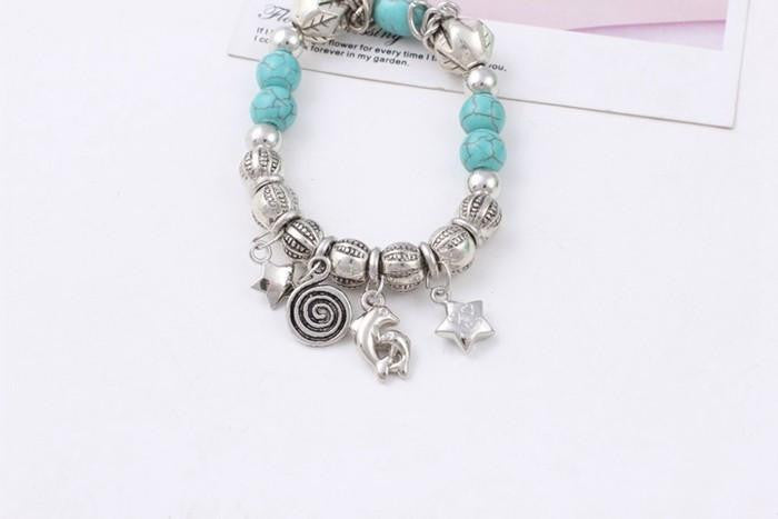 Star Fish turquoise  bracelet - WikiWii