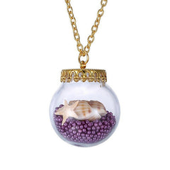 Starfish in a glass jar necklace - WikiWii