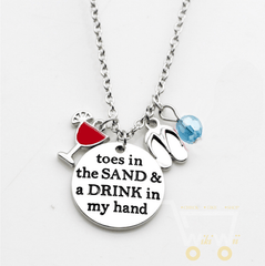 Toes in the sand necklace - WikiWii