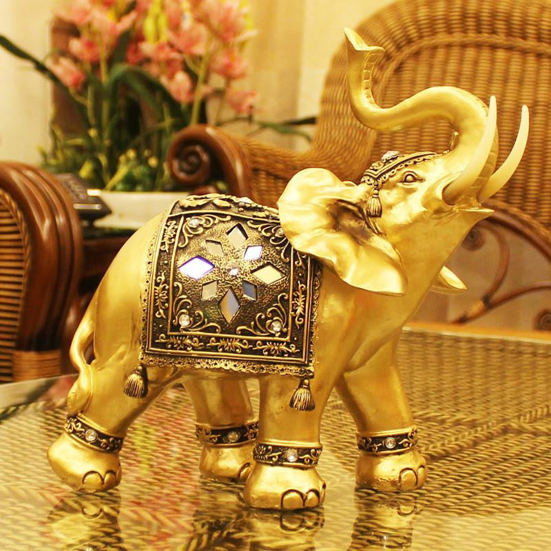 Traditional Elephant Statue Home Decor