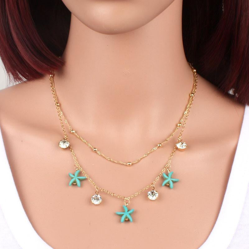 Turquoise Starfish Necklace - WikiWii