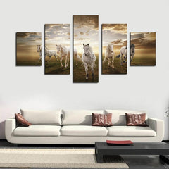 Unframed 5 pcs Running Horse Home Wall Decor - WikiWii