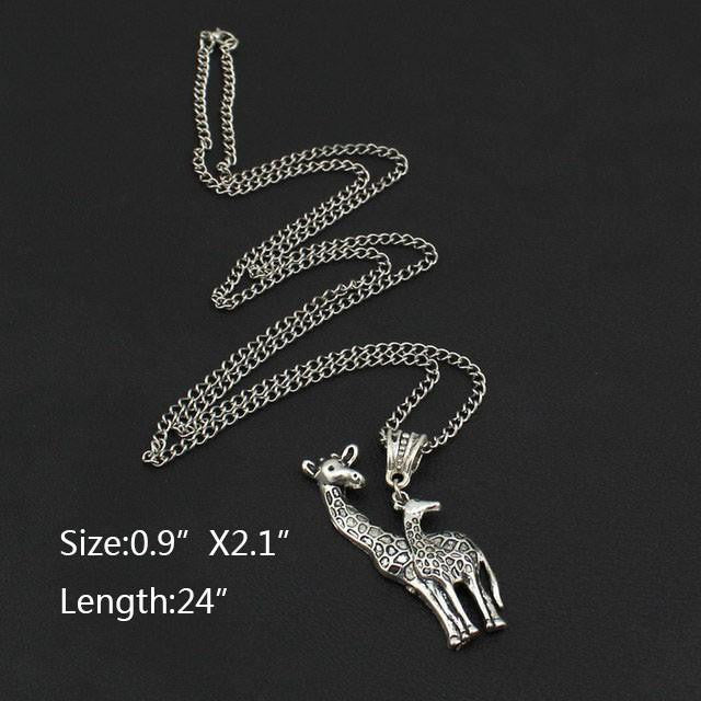 "Vintage Silver Giraffe Necklace ""2"" - WikiWii"