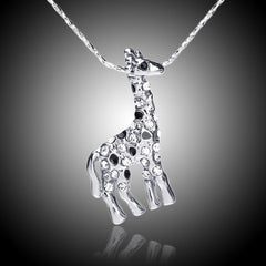 white crystal giraffe necklace - WikiWii